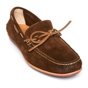 FRYE Harris Tie Suede Driving Moccasin Loafers NEW